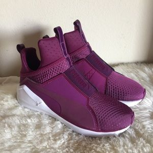 Puma Fierce Quilted High Sneake. Size 6